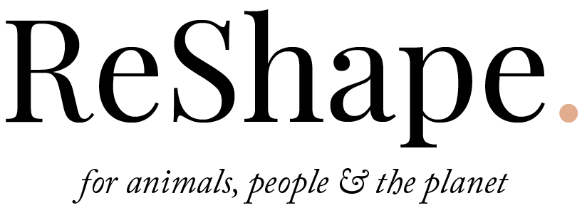 ReShape. Logo | ReShape. for animals, people and the planet.