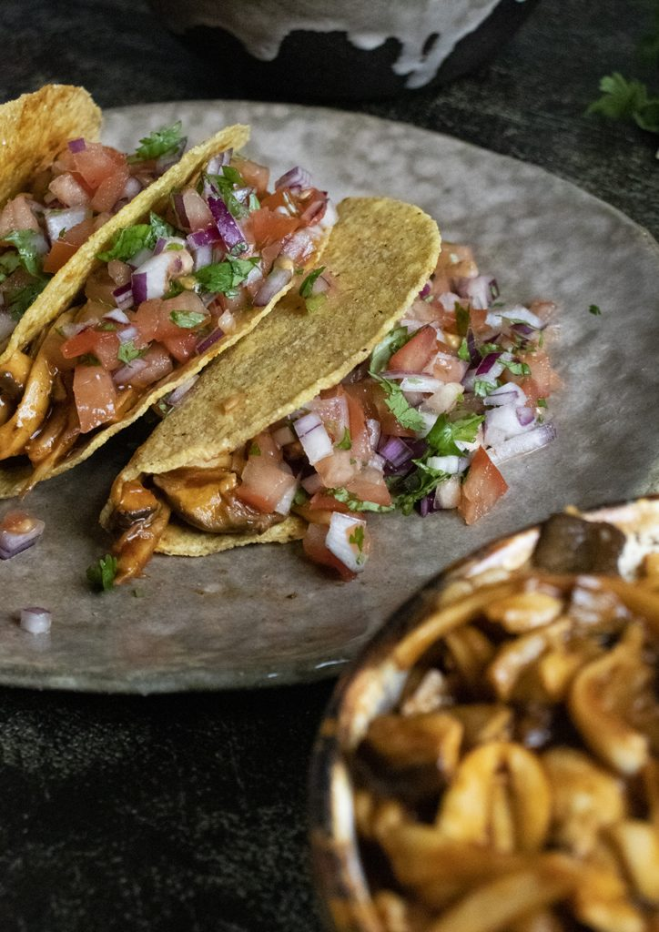 tacos, vegan mushroom tacos, vegan tacos, meat-free tacos, vegan recipes, vegan meals, plant-based dinner