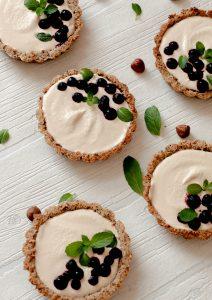 creamy hazelnut tarts