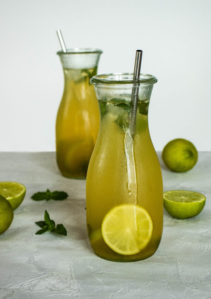 mint & lime iced tea