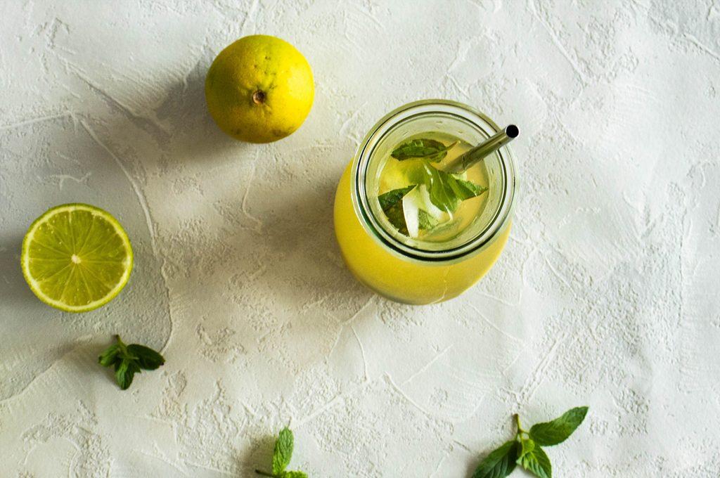 mint & lime iced tea