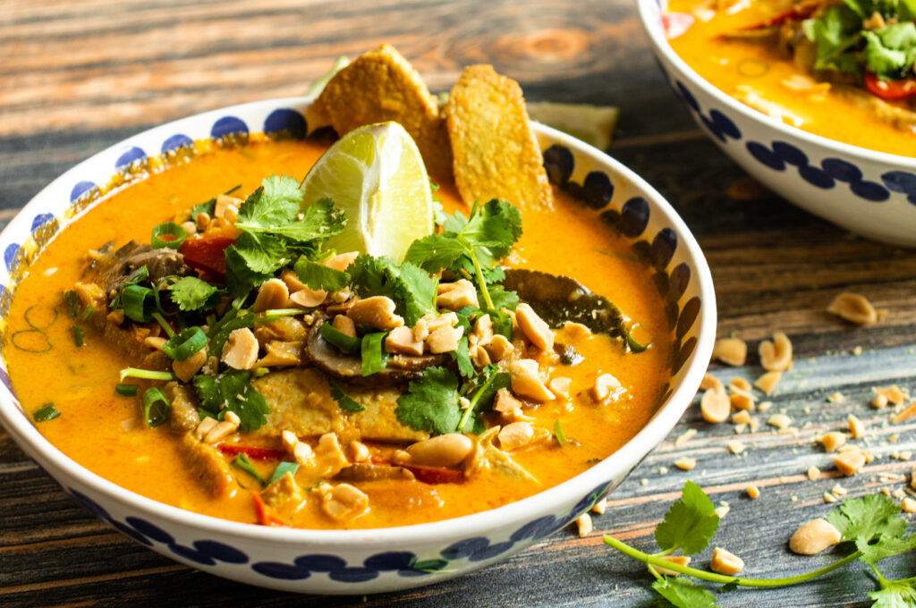 Photo of vietnamese styled coconut-curry soup by Kate Bartel ReShape.