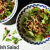 The picture of Radish Salad from ReShape. Food Waste cookbook by Kate Bartel, zero-waste and vegan cookbook